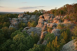 Sunset at Garden of the Gods in Shawnee National Forest