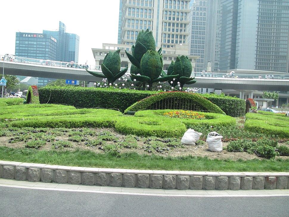 Garden on street in Shanghai