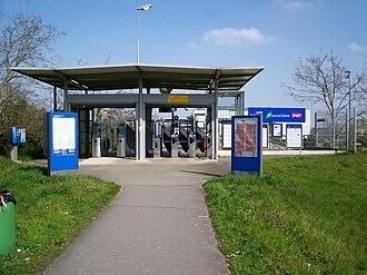 Neuville–Université station - Entrance of the station