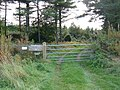 Gated Entrance to Private Woodland - geograph.org.uk - 1502474.jpg