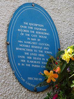 Gatehouse plaque chepstow