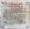 Gedenktafel Domplatz (Meißen) Aufgang zur Marienkapelle.jpg