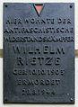 Gedenktafel Dunckerstr 13 (Prenzl) Wilhelm Rietze.jpg