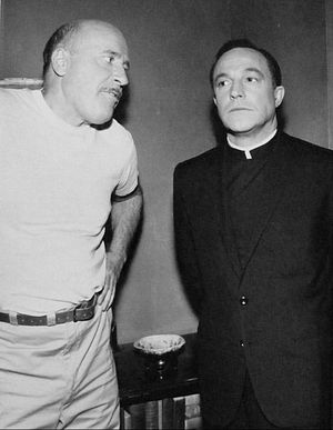 Going My Way - Fred Clark (in a guest role) and Gene Kelly (as Father O'Malley) in an episode of the TV adaptation.