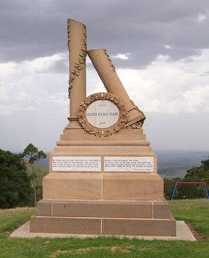 George Essex Evans - George Essex Evans Memorial in Webb Park, Toowoomba.