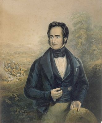 Robert Moffat (missionary) - Portrait by George Baxter, 1843