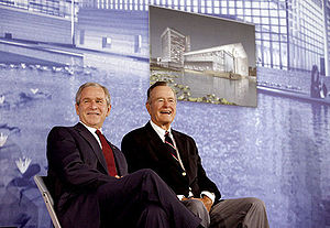 Bush family - George W. Bush and George H. W. Bush in Beijing, 2008