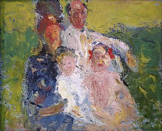 Arnold Schoenberg - Schönberg Family, a painting by Richard Gerstl, 1907
