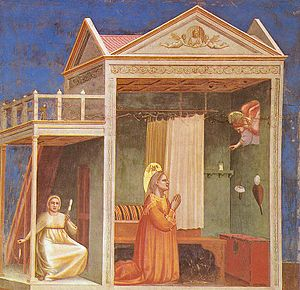 Themes in Italian Renaissance painting - Image: Giotto Scrovegni 03 Annunciation to St Anne