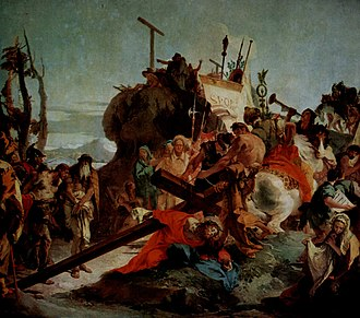 Mark 15 - The Way of the Cross of Christ, Ascent to Calvary by Giovanni Battista Tiepolo