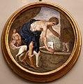 Giovanni da san giovanni, Storie mitologiche e veterotestamentarie, 1634-1635 circa, affresco su stuoia di giunco, narciso alla fonte.jpg