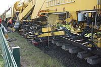 Gleisbauzug von Plasser & Theurer nahe Bahnhof Osterholz-Scharmbeck 06.JPG