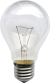 A light bulb with a standard E27 Edison screw base