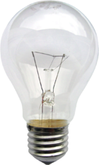 The light bulb, an early application of electricity, operates by Joule heating: the passage of current through resistance generating heat