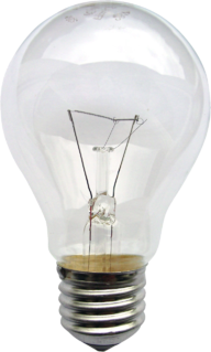 Incandescent light bulb Electric light with a wire filament heated until it glows