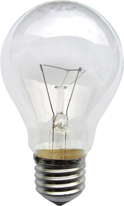 The light bulb, an early application of electricity, operates by Joule heating: the passage of current through resistance generating heat Gluehlampe 01 KMJ.png