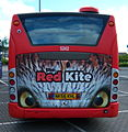 Go North East bus 5242 Scania CN230 Omnicity NK56 KHL The Red Kite livery Metrocentre rally 2009 pic 3.JPG