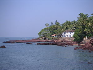 Goa - Goa coastline at Dona Paula