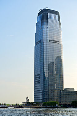 Goldman Sachs Tower @ 30 Hudson Street as viewed from the Exchange Place waterfront.jpg