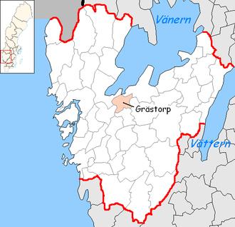 Grästorp Municipality - Image: Grästorp Municipality in Västra Götaland County