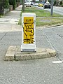 Graffiti On Bollard - geograph.org.uk - 1301867.jpg