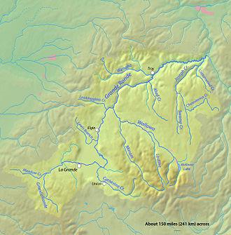 Grande Ronde River - Image: Granderonderivermap