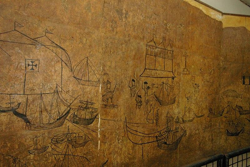 File:Graphitis portuguais datant de 1630 dans la citadelle de Mombasa - panoramio.jpg
