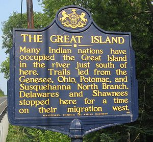 Great Island Path - Image: Great Island Historical Marker