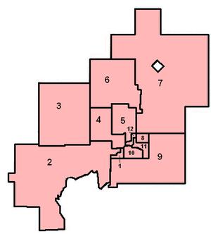 Greater Sudbury City Council - New ward boundaries in 2006.