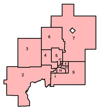 Greater Sudbury City Council - New ward boundaries in 2006.