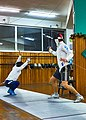 Greek Epee Fencers. On the left Ilias Konstantinidis. On the right Aris Koutsouflakis.jpg