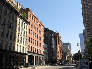 Greenwich Street Street in Manhattan, New York