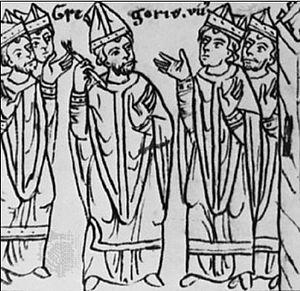 Česky: Ppaež Jiří VII. exkomunikuje císaře Jin...