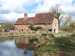 River Whitewater river in Hampshire, United Kingdom
