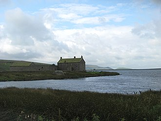 Grimwith Reservoir - Image: Grimwith House, from Middle Tonge