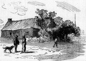 Griqua people - An 1820 drawing of a street scene in Griquatown, Griqualand West.