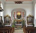 Großschafhausen Pfarrkirche Blick zum Chor mit Fronleichnamsbaldachin.jpg