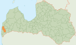 Grobiņa Municipality - Image: Grobinas novads karte