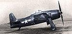 Grumman XF8F-1 Bearcat on the flight line at NAS Patuxent River, circa in 1945.jpg