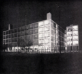 Gualtiero Galmanini, Furniture center with helipad, Lissone, 1955.png