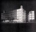 Gualtiero Galmanini, Furniture center with helipad, Lissone, 1955.png