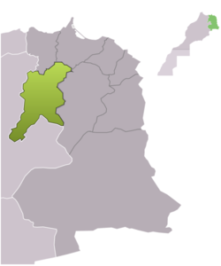 Location of Guercif Province at الشرق (مراکش)
