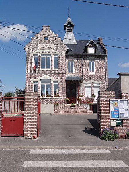 Guivry (Aisne) mairie-école