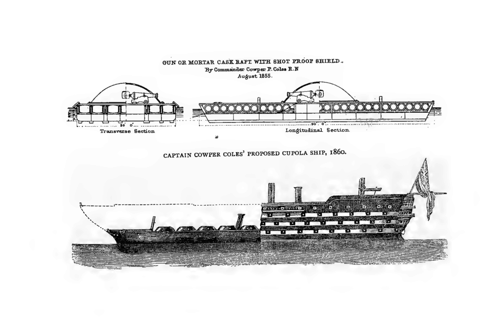 Gun or Mortar cask raft and proposed Cupola ship