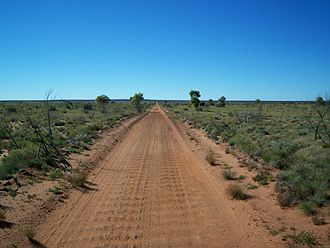 "Gunbarrel Highway - The highway is ""as straight as a gun barrel"" in some places"