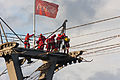 Höhenrettungsübung der Feuerwehr Köln an der Seilbahn-6011.jpg