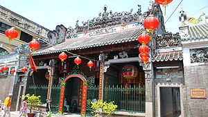 This is a Chinese Buddhist Temple in China tow...
