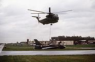 HH-53C lifts BAC Lightning 1987
