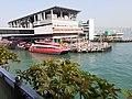 HK SW 上環 Sheung Wan near 信德中心 Shun Tak Centre 天橋 footbridge view 維多利亞海港 Victoria Harbour February 2020 SS2 08.jpg