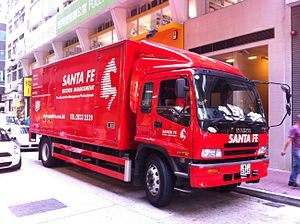 Package delivery - Package delivery truck in Hong Kong